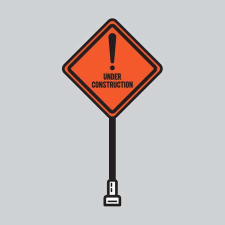 caution sign: Attenzione segno bordo Vettoriali