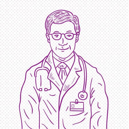 handdrawn: Hand drawn doctor