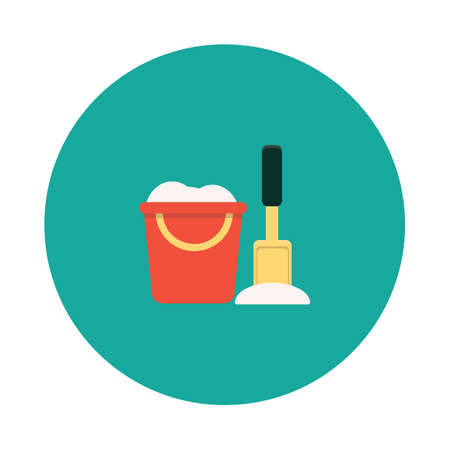 bucket and spade: Bucket with spade Illustration