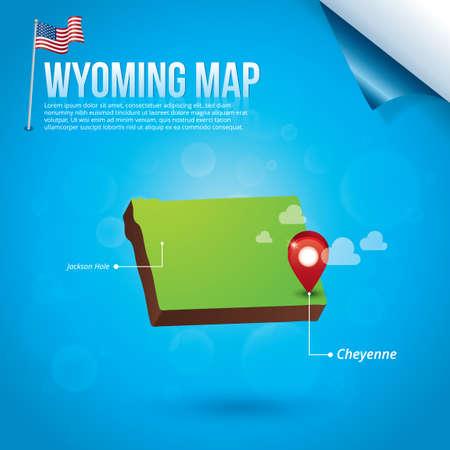 cheyenne: Map of wyoming state