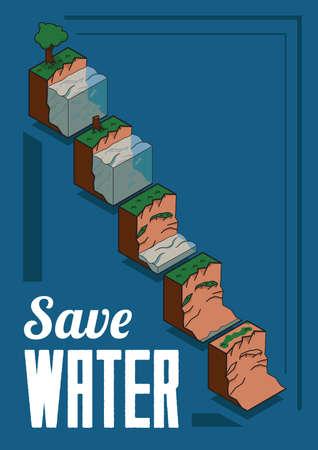 ahorrar agua: Save water design