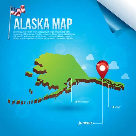 sitka: Map of alaska state
