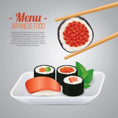 eating area: Japanese food menu poster