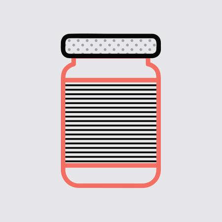 jam jar: Jam jar Illustration