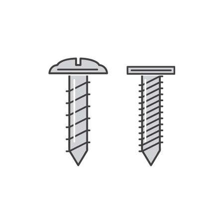 studs: Screws Illustration