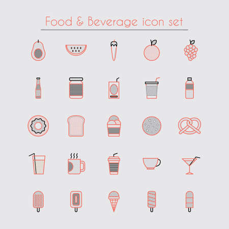 food and beverage: Food and beverage icon set