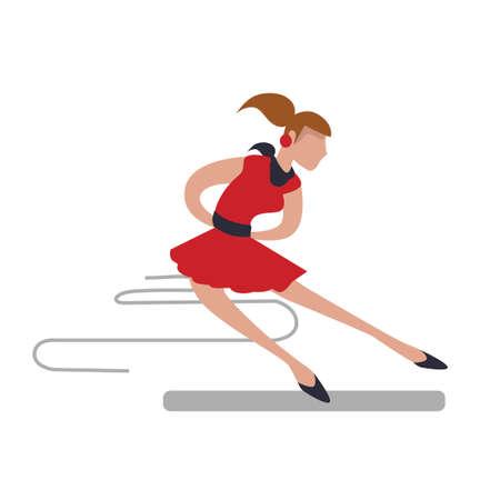 figure skating: Woman figure skating