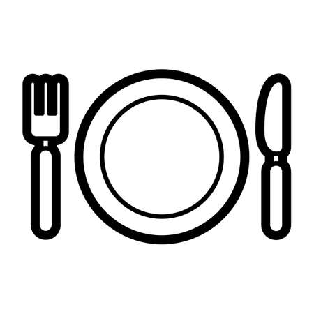plate: Plate spoon and fork Illustration