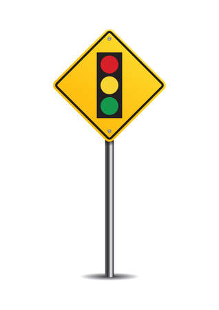 road traffic: Traffic signal ahead sign