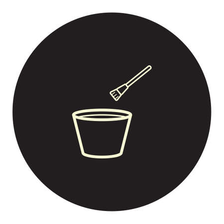mixing: Mixing bowl with brush Illustration