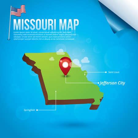 jefferson: Map of missouri state