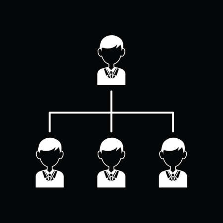 organizational chart: Organizational chart Illustration