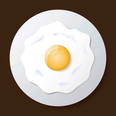 Fried egg Stock Illustratie