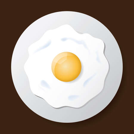 Fried egg Vectores