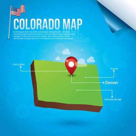 collins: Map of colorado state