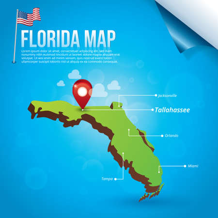 jacksonville: Map of florida state