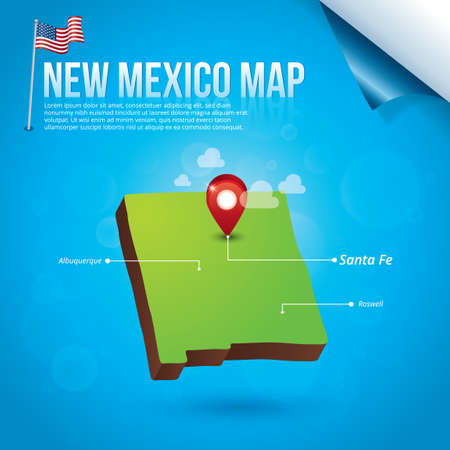 albuquerque: Map of new mexico state