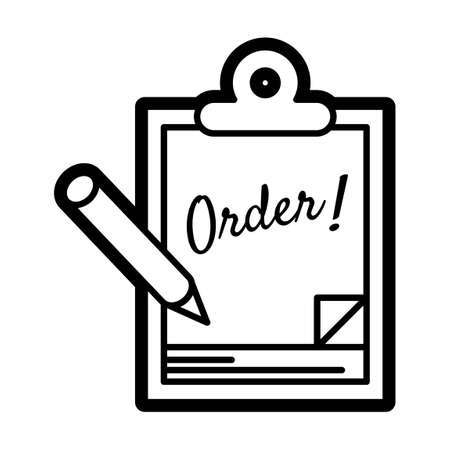 Order pad Ilustração