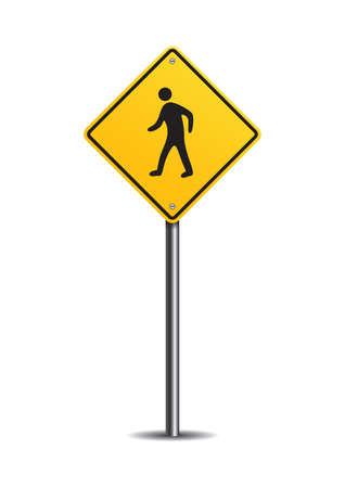 pedestrian: Pedestrian crossing sign Illustration