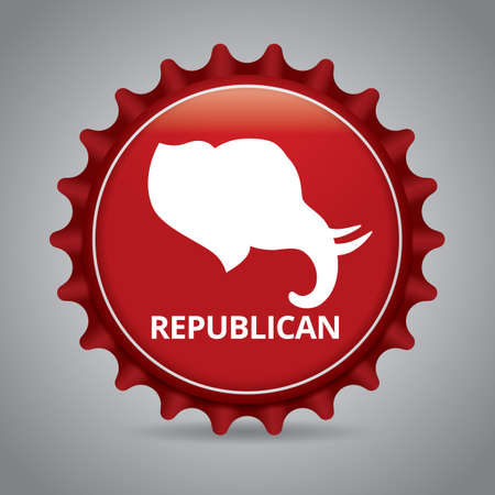 republican party: Republican badge