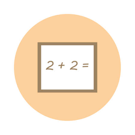 addition: Board with addition problem