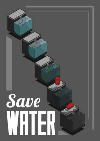 polluted: Save water design