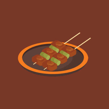 fried: Fried skewers Illustration
