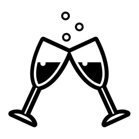 champagne glasses: Glasses Illustration