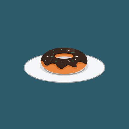 plate: Doughnut on a plate