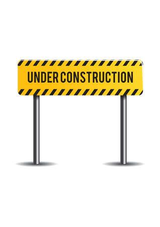 slow lane: Under construction sign