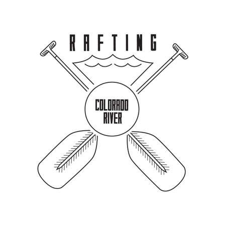 Rafting colarado river label
