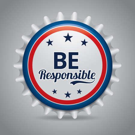 be: Be responsible badge