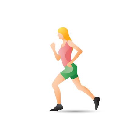 donna che corre: Donna in esecuzione