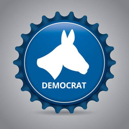 Democrat badge