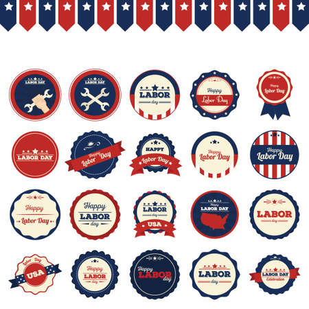 Set of labor day icons