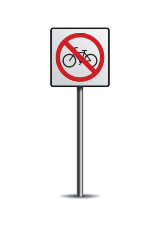 prohibitive: No bicycles sign
