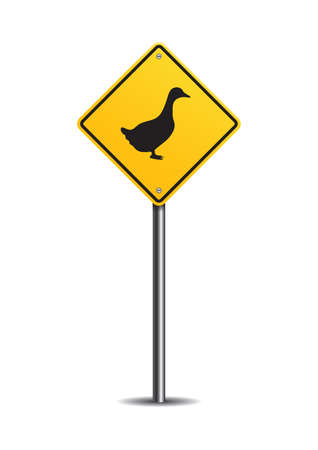 slow down: Duck crossing sign