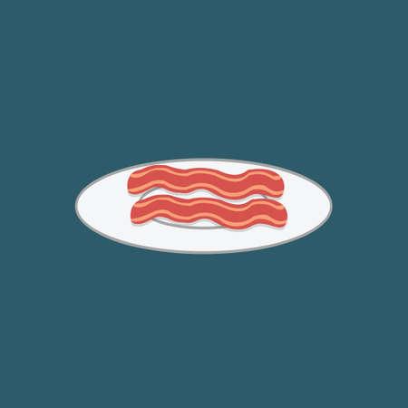 schmalz: Speckstreifen auf einem Teller Illustration