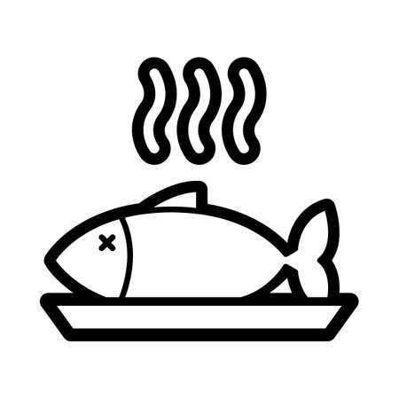 basic food: Hot fish in a plate