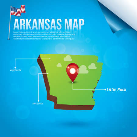 arkansas: Map of arkansas state
