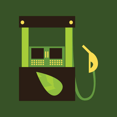 petrol: Green petrol station