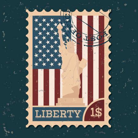 postal: Statue of liberty postal stamp