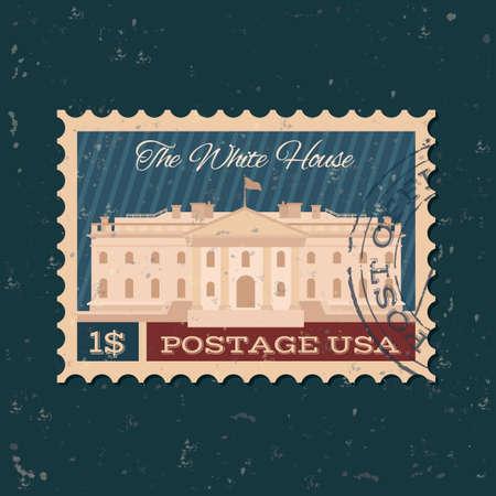 postal stamp: The white house postal stamp