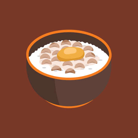 rindfleisch roh: Ged�mpfter Reis mit rohem Ei