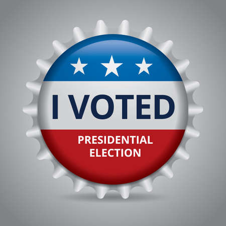 i voted: Presidential election badge Illustration