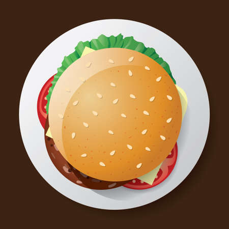 sesame seeds: Burger Illustration