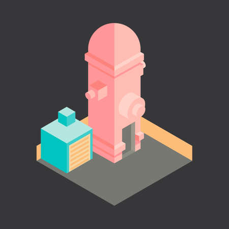 fire station: Isometric fire station