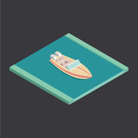 speed boat: Isometric speed boat