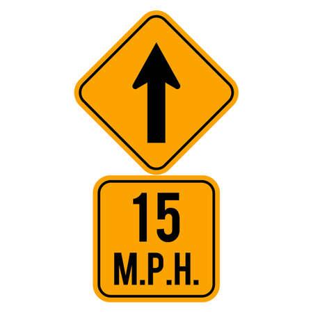 15: 15 mph road sign