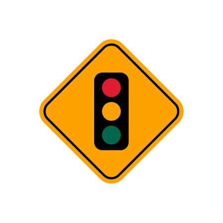 outdoor lights: Traffic light sign Illustration